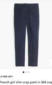 J.Crew French Girl slim crop pants, 365 crepe